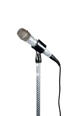 White Sensation Corded Stand Sleeve and Mic Sleeve Combo